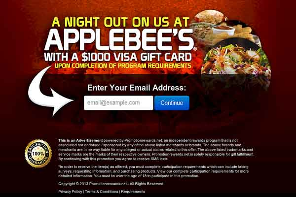 Dine Out At Applebee's With A $1000 Visa Gift Card!