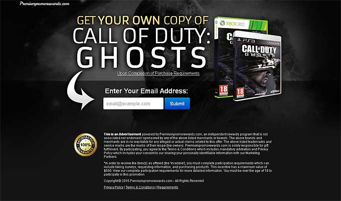 Get Your Copy Of Call Of Duty - Ghosts!
