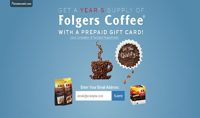 Get A Years Supply Of Folgers Coffee