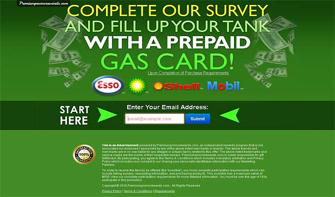 Fill Up Your Gas Tank With A Prepaid Gas Card!