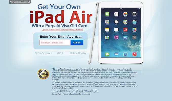 Get Your Own IPad Air With A Prepaid Visa Gift Card!