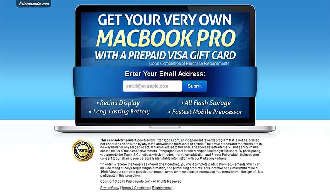 Get Your Macbook Pro With A $1000 Visa Gift Card!