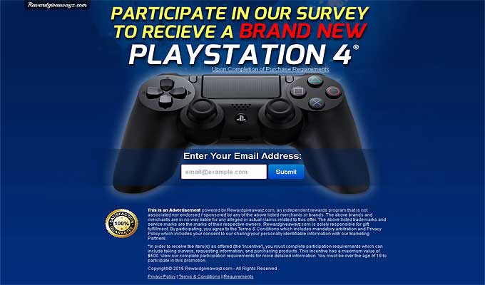 Participate In Our Survey To Get A PlayStation 4