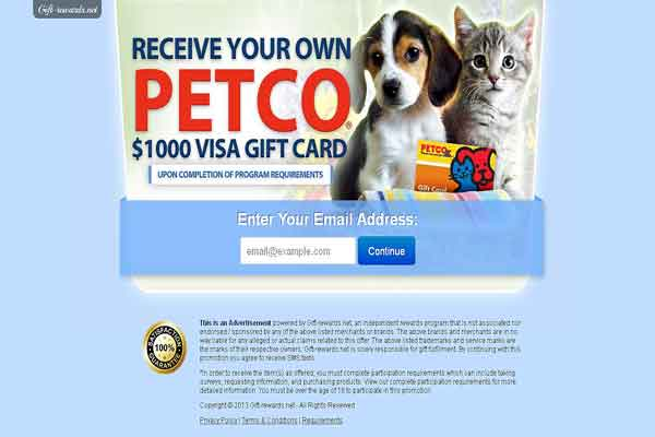 Receive Your Petco $1,000 Visa Gift Card!