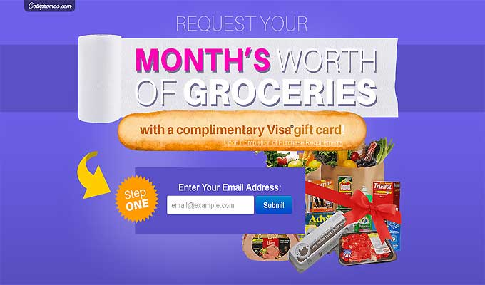 Win A Month's Worth Of Groceries!
