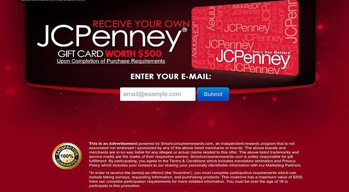 Receive A $500 JC Penney Gift Card!