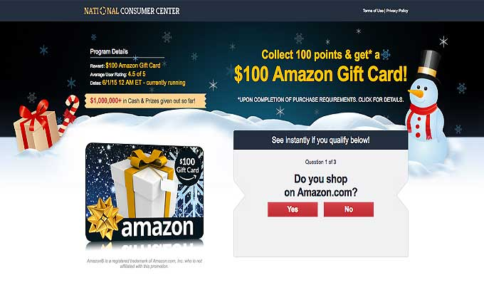 Get A $100 Amazon Gift Card