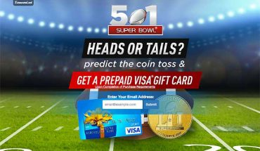 Predict The Super Bowl and Get A Prepaid Visa Gift Card