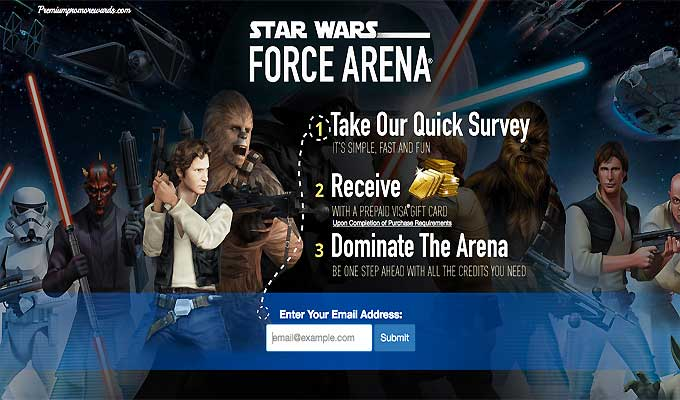 Get Star Wars Force Arena With A Prepaid Visa Gift Card